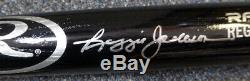 Reggie Jackson Autographié Signé Rawlings Bat Yankees, Psa De A / Adn 110760
