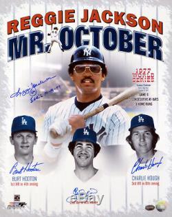 Reggie Jackson Et Carafes Autographiés 16x20 Photo Yankees 3 Psa De Hr / Adn 6715
