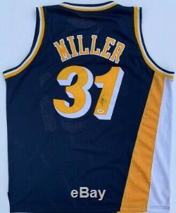 Reggie Miller Signé Indiana Pacers Jersey Mitchell & Ness 1993-1914 Psa / Adn