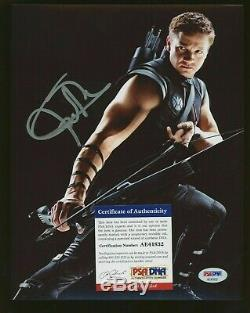 Renner Signé 8x10 Jeremy Photo Avengers Endgame Autographié Psa / Adn Coa