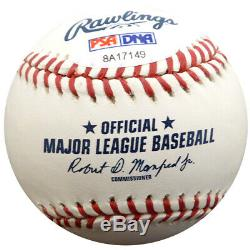 Rickey Henderson Autographié Signé Hof 2009 De Lmb Baseball A Psa / Adn 28157