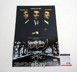 Robert De Niro Deniro Goodfellas Signé Affiche De Cinéma Autographe Psa/adn Coa