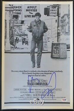 Robert Deniro Signé Taxi Driver Autographié 12x18 Affiche Du Film Psa / Dna # Ab16121