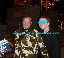 Robin Williams Genie Autographe Signé Guitare Psa Adn Authentique L'un D'un Kind