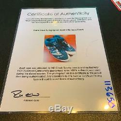 Robinson Cano Signé Jeu Crampons D'occasion Chaussures (2) Seattle Mariners Psa Adn Coa