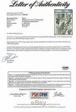 Roger Maris Psa / Adn Type 1 Signé Photo 8x10 Upi Photo Certifiée Autographiée