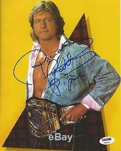 Rowdy Roddy Piper Signé Wwe 8x10 Photo Psa / Adn Coa Wrestlemania VIII 8 Image