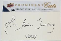 Ruth Bader Ginsburg Signé 2009 Upper Deck Prominent Coupe Psa / Adn # 'd 2 De 4