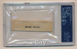 Ruth Cut Autograph Babe Auto Psa / Adn Certifié Authentique