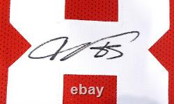 San Francisco 49ers Vernon Davis Signé Red Jersey Psa/dna 16454