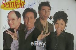 Seinfeld Cast (4) Affiche Authentifiée Autographiée Et Autographiée 24x36 Psa / Dna # X02494