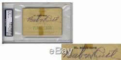 Signature De L'autographe Signée Babe Ruth - Slabbed By Psa / Dna