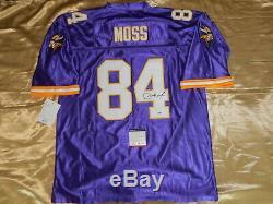 Signé Autographié Randy Moss Vikings Jersey Psa / Adn Taille XL Coa