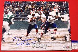 Simpson Autographié Oj Buffalo Bills 16x20 Photo Psa / Adn 2003 Yds 73 Inscription
