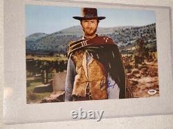 Spaghetti Western Legend Clint Eastwood A Signé Photo Psa Dna