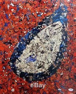 Stan Lee Authentic Signé Spider-man Eye 16x20 Photo Psa / Adn Autographié