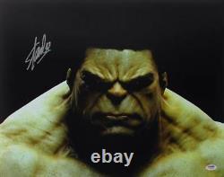 Stan Lee Authentic Signed The Hulk 16x20 Photo Marvel Comics Autographe Psa/adn 1