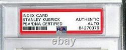 Stanley Kubrick Signé Carte Index Autographiée Psa/adn Slabbed #84270376