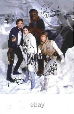 Star Wars Casting Signé 11x14 Photo. Psa Adn Coa Ford, Hammill, Fisher, Mayhew! Wow
