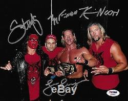 Sting Et Kevin Nash Konnan Lex Luger Nwo Signé Wwe Photo 8x10 Psa / Adn Coa Wcw