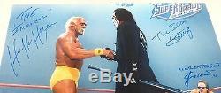Sting Hulk Hogan Jimmy Hart Signé Adn Wwe 16x20 Photo Psa / Coa Image Wcw Auto