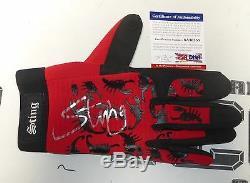 Sting Signé Officiel Tna Bague Modèle Glove Psa / Adn Coa Wwe Wcw Lutte Auto