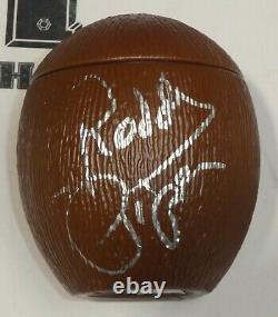 Superfly Jimmy Snuka Rowdy Roddy Piper Signé Coconut Psa/adn Coa Wwe Autographe