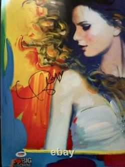 Taylor Swift Autographié 2011 Peter Max Fearless Poster Psa Dna Ad11730