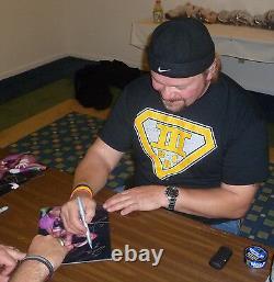 Terry Funk & Shane Douglas Sabu Signé Ecw 8x10 Photo Psa/adn Coa Wwe Autographe