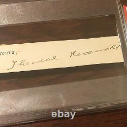 Theodore Roosevelt Psa/dna Lambbed Hand Signed Full Signature Autograph