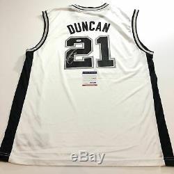 Tim Duncan Jersey Signé Psa / Adn San Antonio Spurs Autographié