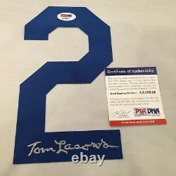 Tommy Lasorda A Signé Los Angeles Brooklyn Dodgers Jersey Numéro 2 Adn Psa Coa