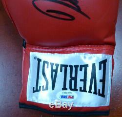 Vente! 3 Boxe Greats Autographié Gant De Boxe Leonard Hearns Duran Lh Psa / Adn