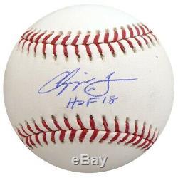 Vente! Chipper Jones Autographié Signé Lmb Baseball Braves Hof 18 Psa / Adn