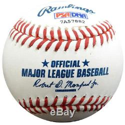 Vente! Henderson Rickey Autographié Lmb Baseball Yankees, A # 24 De Psa / Adn