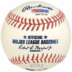 Vente! Rickey Henderson Autographed Mlb Baseball Yankees, A's #24 Psa/dna