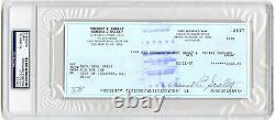 Vin Scully Signed/encapsulated Check La Dodgers Annonceur Psa/dna Autographié