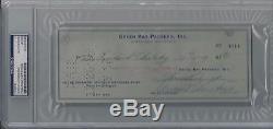 Vince Lombardi Contrôle Certifié Autographié Par Psa / Dna De Green Bay Packers