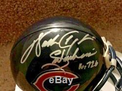 Walter Payton Autographed Chicago Bears Mini Casque Avec Psa Inscriptions / Adn Coa