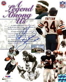 Walter Payton Autographié 8x10 Photo Bears Sweetness 16 726 Psa/dna 22530