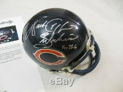 Walter Payton Autographié Signé Bears De Chicago Mini Casque Psa Adn Coa