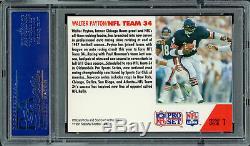 Walter Payton Autographié Signé Carte 1991 Pro Set # 1 Bears Psa / Adn 60894