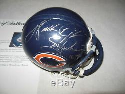 Walter Payton Autographié Signé Chicago Bears Mini Casque Psa Adn Loa 2