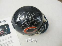 Walter Payton Autographié Signé Chicago Bears Mini Casque Psa / Adn Loa A