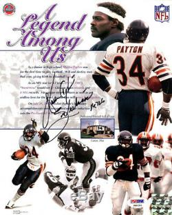 Walter Payton Autographié Signé Photo 8x10 Bears Sweetness Psa / Adn 19781