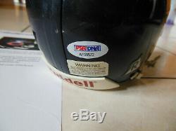 Walter Payton Mini Casque Signé Chicago Bears Autographié Avec Psa Dna Coa