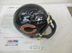 Walter Payton Signé Autographié Chicago Bears Mini Casque Psa / Adn