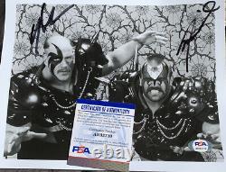 Warriors Routiers Signé 8x10 Photo Psa / Adn Coa Wrestling Autographed Animal Faucon