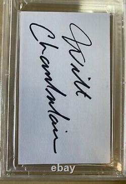Wilt Chamberlain Autographié 3x5 Carte Index Couper Psa/adn Lakers Beautiful Auto