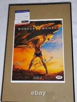 Wonder Woman Gal Gadot Photo Dédicacée Psa Adn Justice League